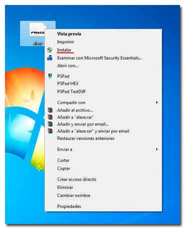 Cómo instalar fuentes en Windows 7