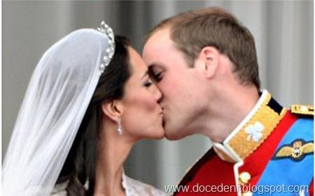 beijo do casal real