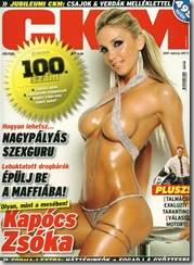 Sexy Star Zsoka Kapocs CKM Magazine photos