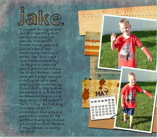 Jake - Broken wrist - 2007