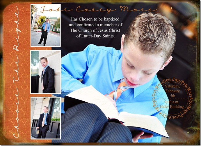 Jake's Baptism Invite