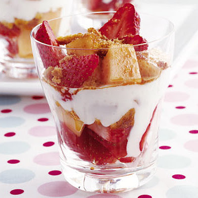 Strawberry, Melon & Ginger Sundaes