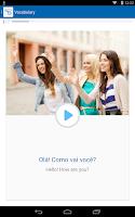 Screenshot of Learn Portuguese with busuu