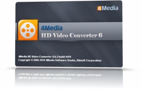 4Media HD Video Converter v6.0.6.0625