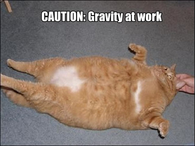 CAUTION Gravity at work