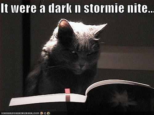 It were a dark n stormie nite