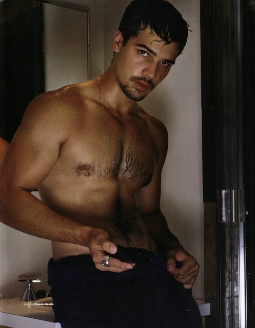 actor steven strait shirtless and wet hairy chest