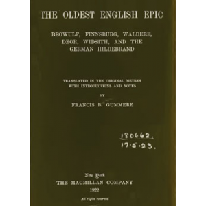 The Oldest English Epic Beowulf Finnsburg Waldere Deor Widsith Cover