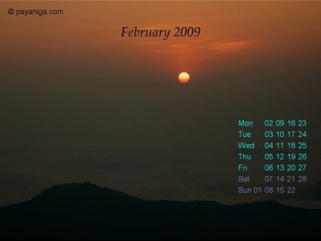 Desktop Calendar: February 09