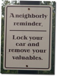 Neighborly Reminder