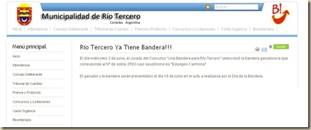 Bandera Río Tercero_Ganador_Anuncio web Municipalidad