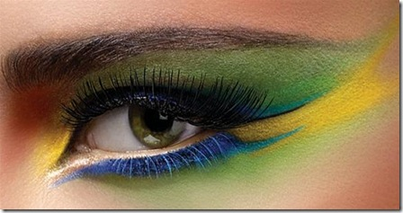 Colorful art makeup