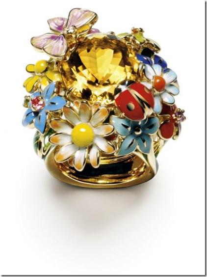 dior -diorette yellow gold and citrine - ring