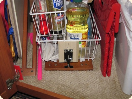 Kitchen Sliding Basket Latch