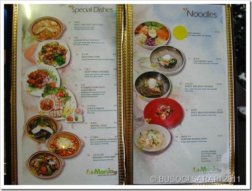 MARU SPECIAL DISHES & NOODLES© BUSOG! SARAP! 2011