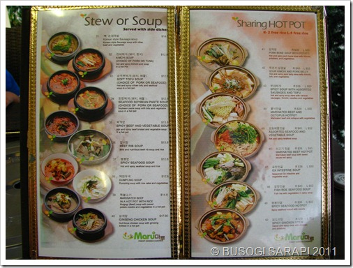 MARU STEW OR SOUP & SHARING HOT POTS© BUSOG! SARAP! 2011
