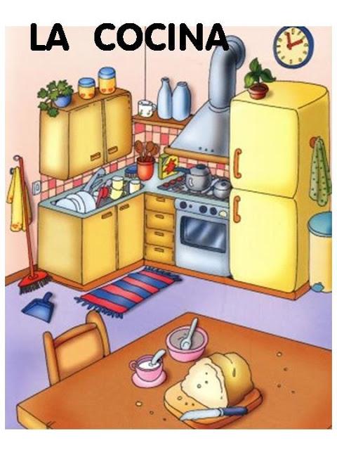 La casa fichas partes de la casa educacion infantil for Como dibujar una cocina