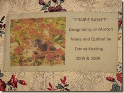 Prairie Basket Label