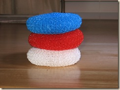 stacked pot scrubbers