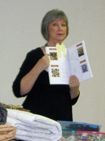Barb showing DJ book