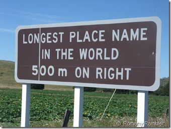 Romany Rambler The Longest Place Name In The World