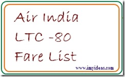 Leave Travel Concesson Fare List Latest