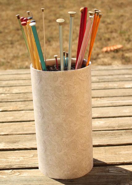 Knitting Needle Storage Diy : Pezjunky more diy knitting needle storage cute canister
