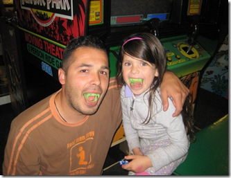 dad and sweetie with teeth