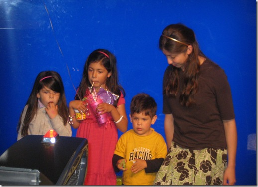 kids filming their veggie tale movie