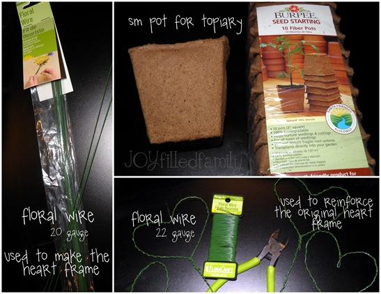 topiary supplies JOY
