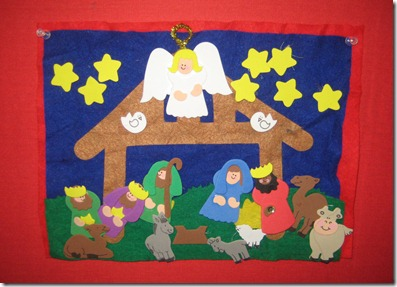 nativity in schoolroom