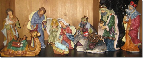 nativity on altar