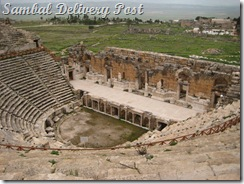 The Ancient City of Hierapolis on top of Pamukkale