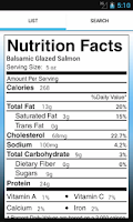 Screenshot of Nutrition - Vanderbilt