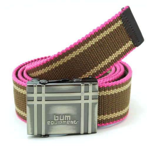 B.U.M. Equipment Canvas Belt - BUM7683 (Coffee / Pink)