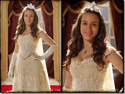 Açucena vestida como a Princesa Aurora - foto Inácio Moares -TV Globo
