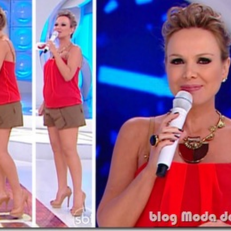 Look da Eliana no programa do dia 15 de maio