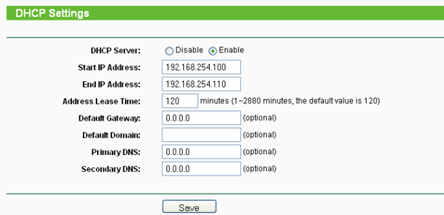 6 setting dhcp