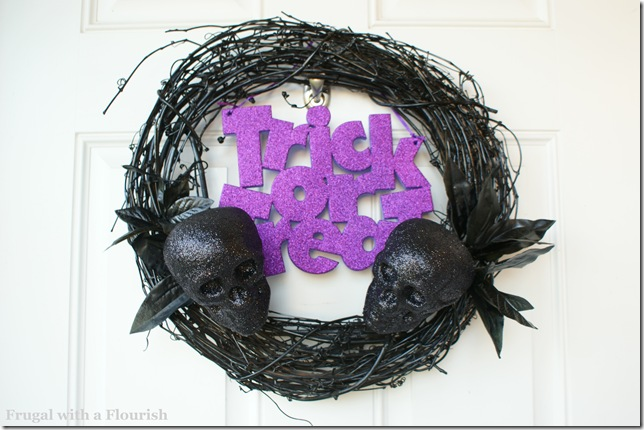 Spooky Sparkly Wreath
