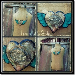 heart with wings collage