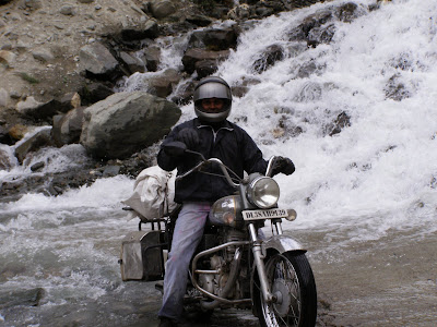 Santosh, after negotiating the first water crossing of the day