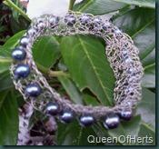 crochet blue pearl bracelet2