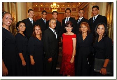 Coro Mormon y la Primera Dama