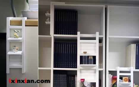 创意小梯子,装饰你的书架-爱新鲜