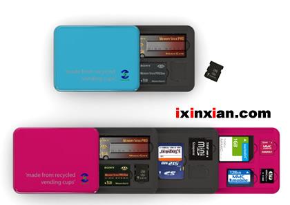 闪存卡存放器(Flash Memory Card Holder)-爱新鲜