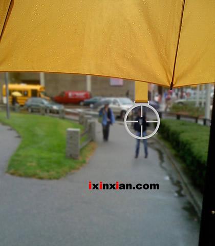 雨伞瞄准器–雨天的乐趣-爱新鲜
