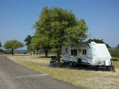 Camping at Falcon State Park.