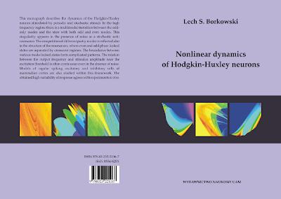 Lech S. Borkowski, monograph, book, Nonlinear dynamics of Hodgkin-Huxley neurons, Department of Physics, Adam Mickiewicz University, Umultowska 85, 65-614 Poznan, Poland, Wydawnictwo Naukowe UAM 2010, ISBN 978-83-232-2106-7, ISSN 0554-825X