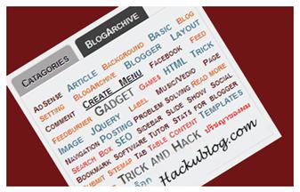 สอนทำบล็อก วิธีปรับแต่ง Label gadget บน blogger