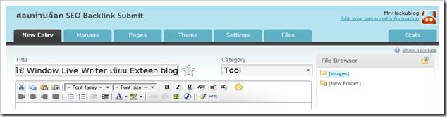 ใช้ Window live Writer เขียน bloggang